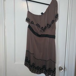 NWT French Connection One-Shoulder Beaded Dress